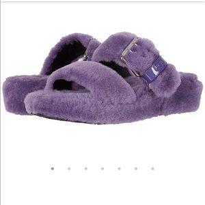 UGG Fluffy Lavender Violet Slide